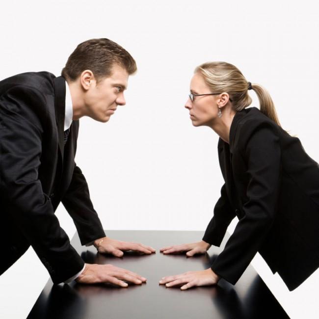 сотрудники на грани ссоры