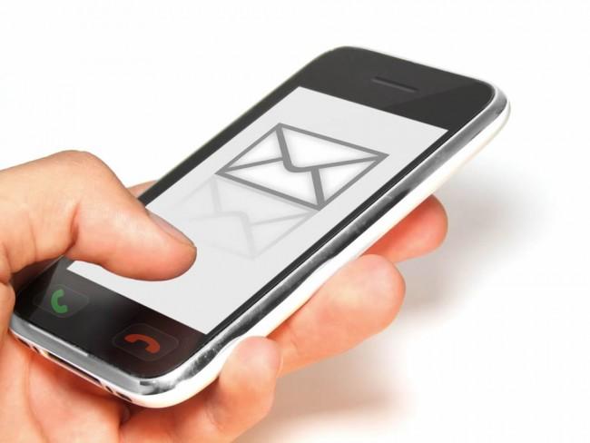Телефон андроид со значком нового сообщения