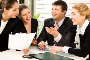 деловое общение за столом