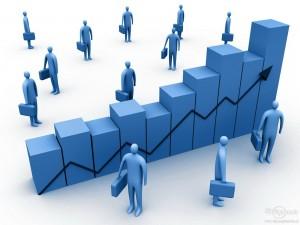 схематичное изображение графика и рабочих людей