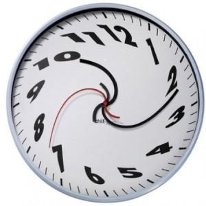 часы с искривленным стрелками